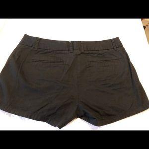 Women's J Crew Black Chino Shorts Size 8